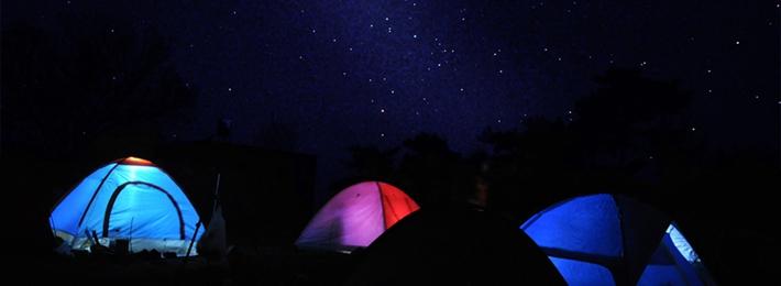 露营去看天琴座流星雨